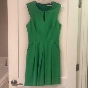 Trina Turk sleeveless green dress size 4